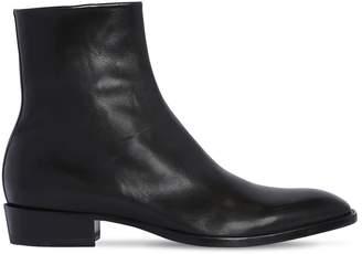 Saint Laurent 30mm Leather Ankle Boots
