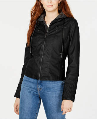 32556e0f4 Black Leather Jackets For Juniors Girls - ShopStyle