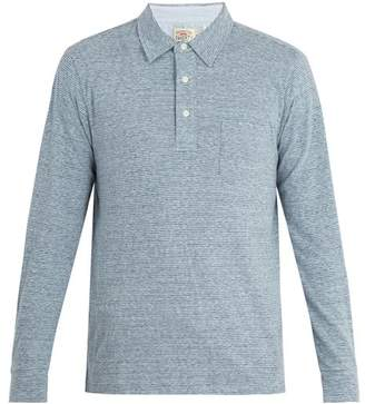 Faherty Laguna striped cotton-blend polo shirt