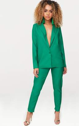 PrettyLittleThing Bright Green Oversized Boyfriend Fit Blazer