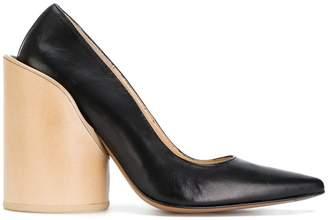 Jacquemus pointed block heel pumps