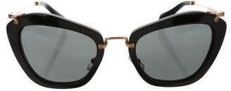 Miu Miu Tinted Square Sunglasses