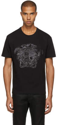 Versace Black Ghost Jewelled Medusa T-Shirt