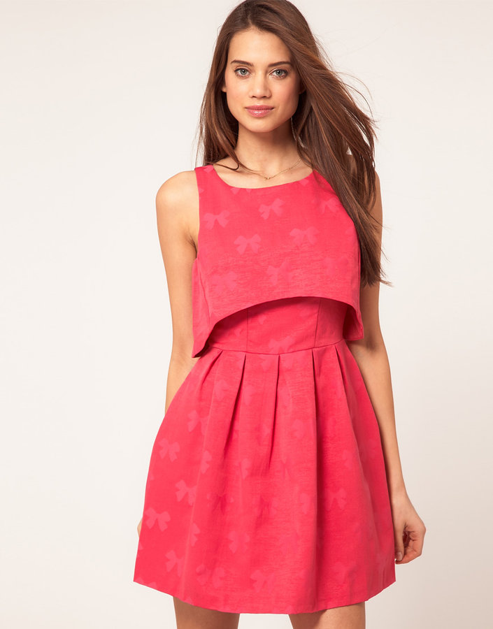 ASOS Dress With Bow Jacquard