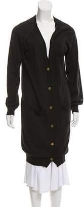 Lanvin Longline Button-Up Cardigan Black Longline Button-Up Cardigan
