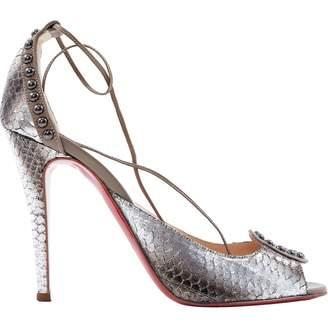 Christian Louboutin Silver Water snake Heels