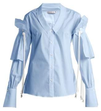Palmer Harding Palmer//Harding Palmer//harding - Removable Ruffle Long Sleeved Shirt - Womens - Blue