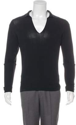Jean Paul Gaultier Knit Polo Sweater black Knit Polo Sweater