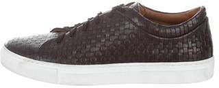 Aquatalia Woven Leather Sneakers