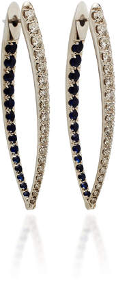 Christina Melissa Kaye 18K White Gold Diamond and Blue Sapphire Earrings