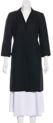 Burberry Silk Longline Blazer
