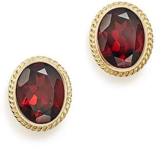 Bloomingdale's Garnet Oval Large Bezel Stud Earrings in 14K Yellow Gold - 100% Exclusive