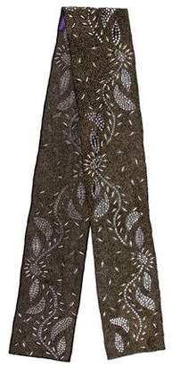 Ralph Lauren Embellished Woven Scarf