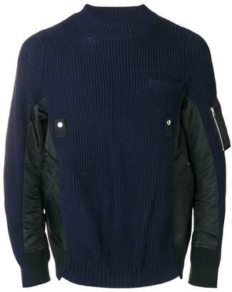 Sacai mixed fabric jumper