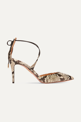 Aquazzura Very Matilde 85 Watersnake Pumps - Snake print