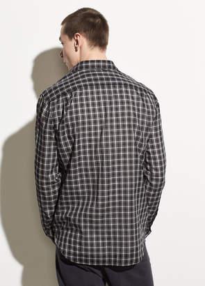 Two-Tone Plaid Long Sleeve