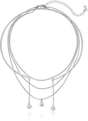 "ABS by Allen Schwartz All Choked Up"" Take 2 Layered Choker Necklace"