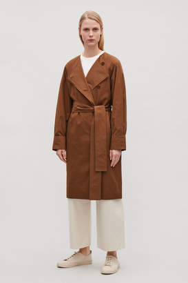 Cos COLLARLESS TRENCH COAT