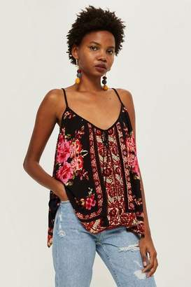 Band of Gypsies Rose Mix Print Camisole Top by