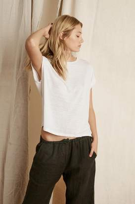 Velvet by Graham & Spencer HUDSON LINEN KNIT CREW NECK TEE