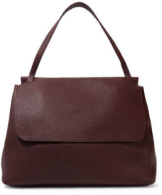The Row Top Handle 14 Textured-leather Shoulder Bag - Burgundy