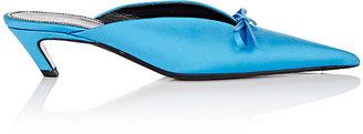 Balenciaga Women's Broken-Heel Satin Mules $665 thestylecure.com