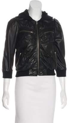 Stella & Jamie Leather Hooded Jacket