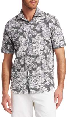 bfcd58c6a6 Saks Fifth Avenue Abstract Floral Woven Cotton Button-Down Shirt