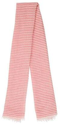 Agnona Striped Cashmere Scarf