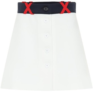 Miu Miu Techno jersey miniskirt