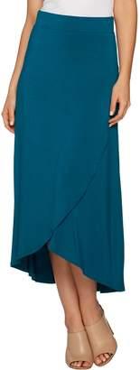 Logo By Lori Goldstein LOGO by Lori Goldstein Tulip Hem Modal Knit Maxi Skirt