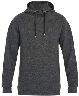 Balmain Hooded Wool Jersey Sweatshirt - Mens - Grey