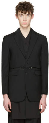 D.gnak By Kang.d Black Cut-Out and Rings Blazer