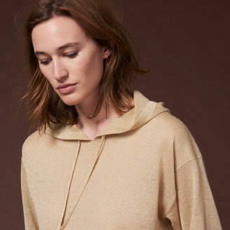 Sandro Fine metallic hooded sweater