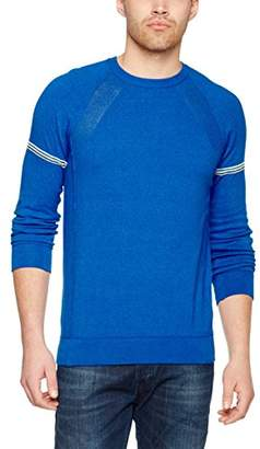 Benetton Men's Sweater L/S Jumper, (Dark Grey), Small