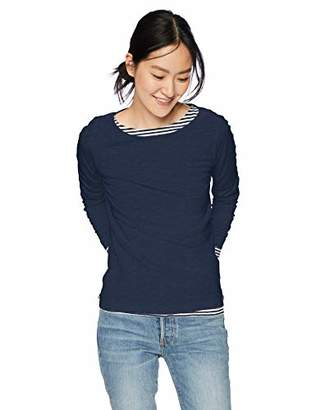 J.Crew Mercantile Women's Long Sleeve Boatneck T-Shirt,L