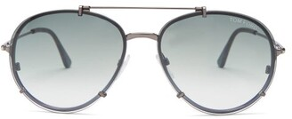 Tom Ford Dickon Aviator Sunglasses - Mens - Silver
