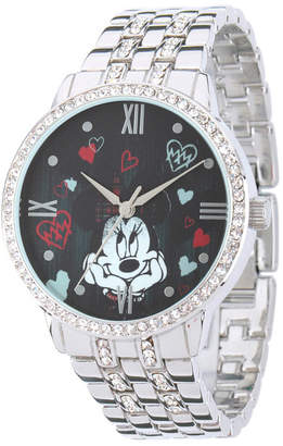 EWatchFactory Disney Minnie Mouse Silver Alloy Watch With Glitz