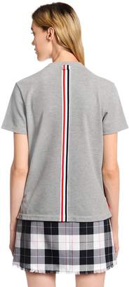 Thom Browne Back Stripe Cotton Piqué T-Shirt