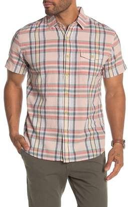 Grayers Stanley's Classic Madras Plaid Short Sleeve Shirt