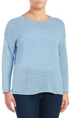 Lord & Taylor Plus Boxy Knit Pullover