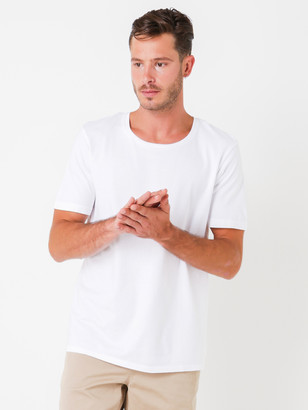 Denham Jeans Tubular Crew Short Sleeve T-Shirt in White