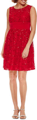 Melrose Sleeveless Lace Fit & Flare Dress