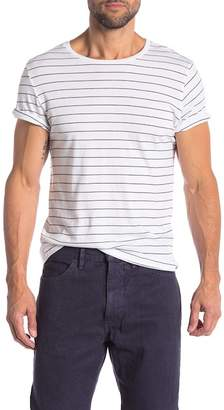 Save Khaki Surf Stripe Crew Neck Tee