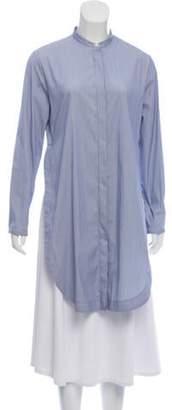 Fabiana Filippi Striped Longline Tunic Blue Striped Longline Tunic