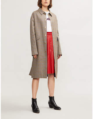 Rika BY ULRIKA LUNDGREN Checked wool-blend coat