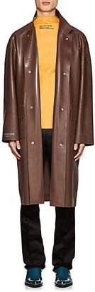 Calvin Klein Men's Rubber Trench Coat - Brown Size 46 Eu