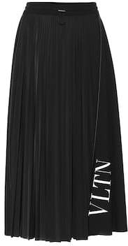 Valentino VLTN pleated jersey skirt