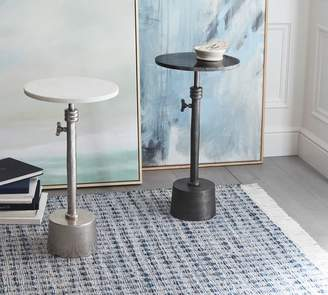 Pottery Barn Melvin Marble Adjustable Height Accent Table
