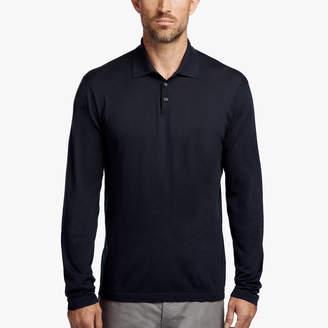James Perse COTTON POLO SWEATER